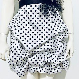 City Triangles Dresses - CITY TRIANGLES | Strapless Polka Dot Bubble Dress
